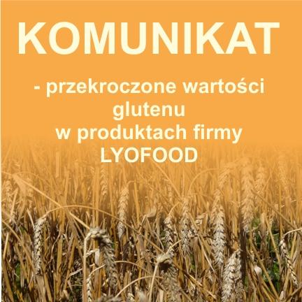 Przekroczenie wartości glutenu - LYOFOOD